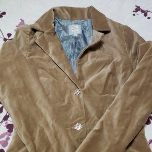 Tan velvet jacket (lightweight)